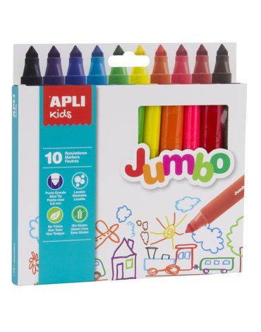 Flamastry Jumbo Apli Kids - 10 kolorów