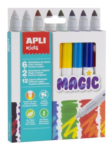 Magiczne flamastry Apli Kids - 8 kolorów