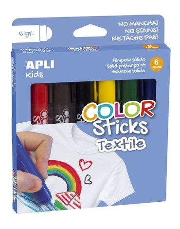 Flamastry do tkanin Apli Kids - 6 kolorów