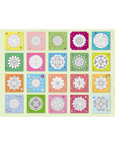 Kolorowanka z kredkami Apli Kids - Mandala