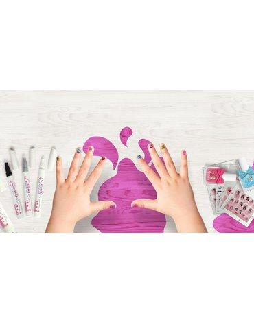 Brokat do paznokci dla dzieci Snails - Purple Blue