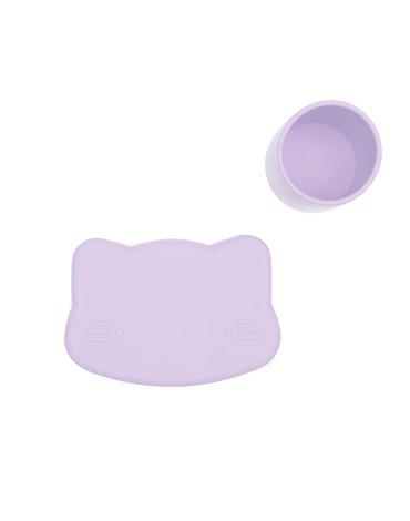 Zamykany silikonowy pojemnik Kotek We Might Be Tiny - Lilac