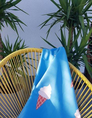 LittleLife - Ręcznik szybkoschnący Soft Fibre Lifeventure - Ice Cream 150x90 cm