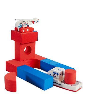 Zabawka do kąpieli BathBlocks - Straż przybrzeżna z helikopterem 11 el.