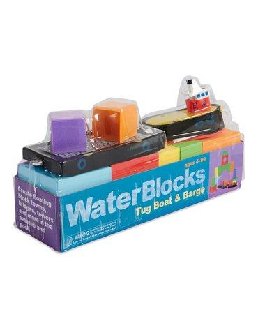 Zabawka do kąpieli BathBlocks - Holownik i barka 16 el.