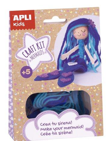 Zestaw artystyczny Apli Kids - Niebieska Syrenka