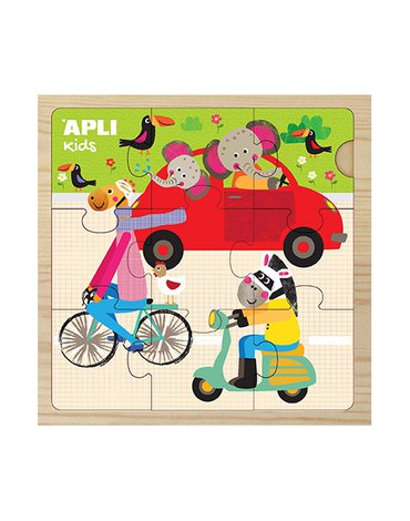 Drewniane puzzle Apli Kids - Samochód 3+