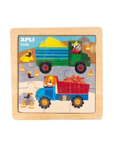 Drewniane puzzle Apli Kids - Ciężarówka 3+