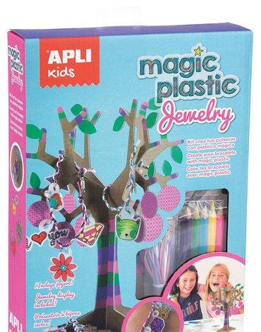 Zestaw z magicznym plastikiem Apli Kids - Biżuteria