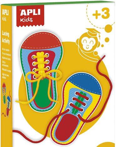 Zestaw do nauki wiązania butów Apli Kids