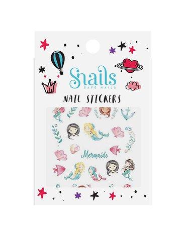 Naklejki na paznokcie dla dzieci Snails - Mermaids