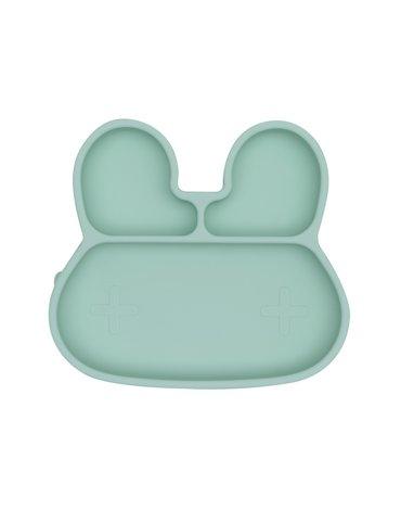 Silikonowy talerzyk z przyssawką Króliczek We Might Be Tiny - Minty Green