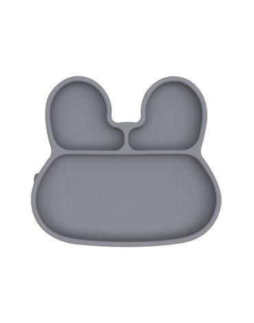 Silikonowy talerzyk z przyssawką Króliczek We Might Be Tiny - Grey