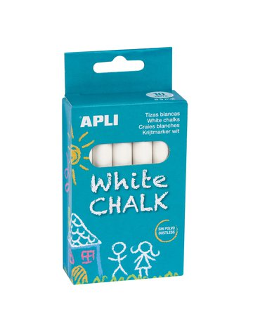 Kredy białe Apli Kids - 10 sztuk
