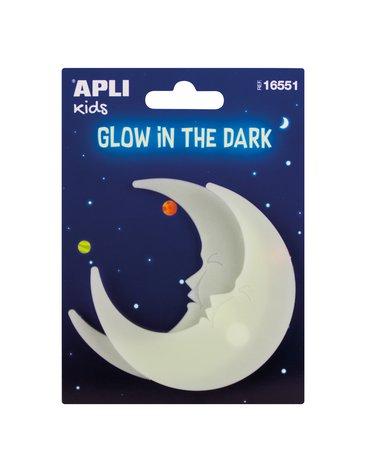 Fluorescencyjne naklejki Apli Kids - Księżyce 2 sztuki