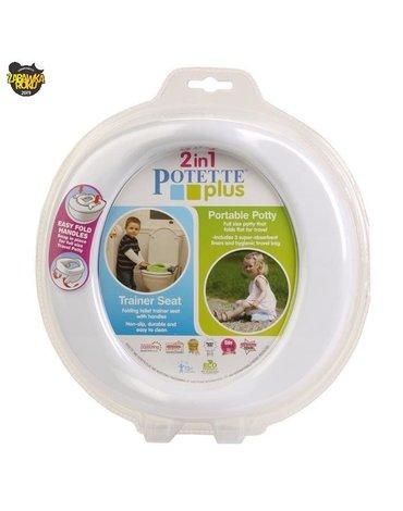 Nocnik dla dziecka i nakładka na sedes, 2w1, biały, Potette Plus