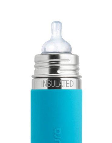 Smoczek dla niemowląt 2 szt., średni przepływ (3m+), do butelek, Pura