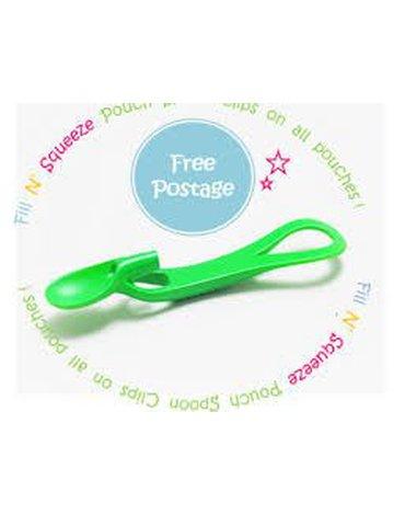 Fill n Squeeze - Pouch Spoon, łyżeczka do karmienia, zielona, Fill'n Squeeze