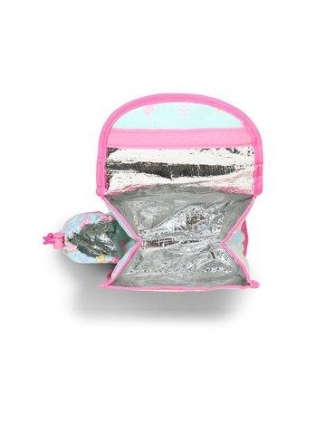 Penny Scallan Design - Plecak Lunchbox z osobną kieszonką na picie, Ananasy, miętowo-różowy, Penny Scallan