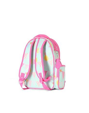 Penny Scallan Design - Mały plecak z kieszeniami miętowo-różowy w ananasy Penny Scallan