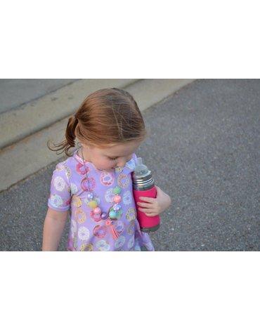 Termobutelka ze smoczkiem i różową osłonką 260 ml, Pura Kiki