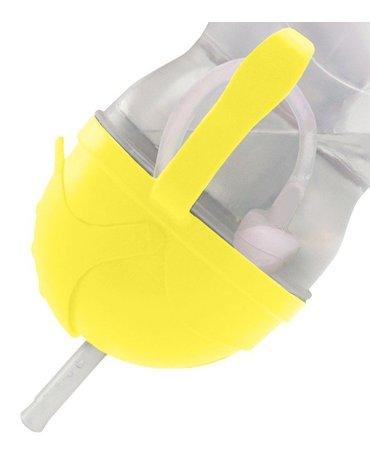 Innowacyjny bidon ze słomką b.box żółty