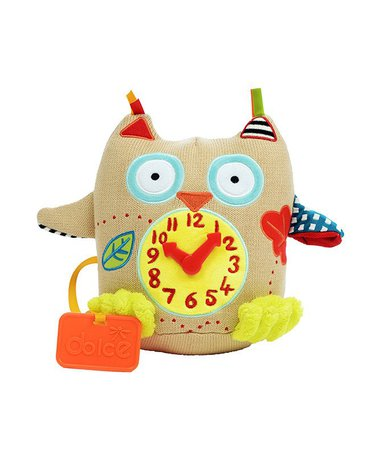 Zabawka sensoryczna Mój Pierwszy Zegar, Sówka, Dolce