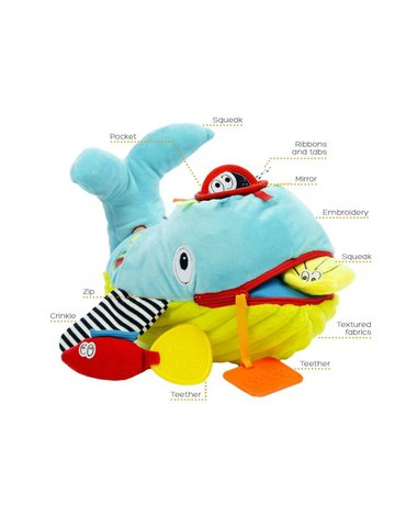 Zabawka sensoryczna Ucz Się i Baw, Wieloryb, Dolce