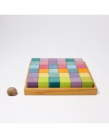 Kwadrat z 36 pastelowymi kostkami 1+, Grimm's