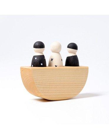 Troje Przyjaciół na łódce, kolekcja naturalna, 1+, Grimm's