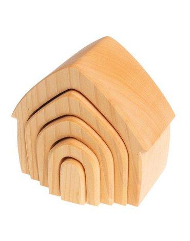 Drewniany Domek, kolekcja naturalna 1+, Grimm's
