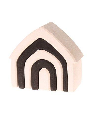 Drewniany Domek, kolekcja naturalna 1+, monochromatyczny, Grimm's