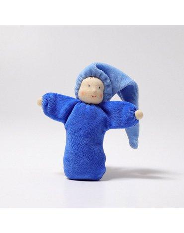 Laleczka mięciutka 0+, niebieska, Grimm's