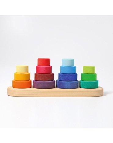 Mini Wieże z okręgami 4 szt. 1+, Grimm's