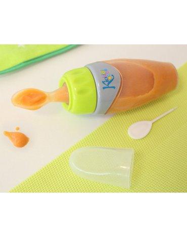 Pojemnik silikonowy z łyżeczką na jedzenie dla niemowląt, Kiokids