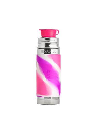 Termobutelka Sport 260 ml, różowa swirl, Pura Kiki