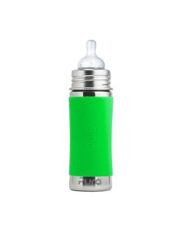 Butelka ze smoczkiem, 325 ml, zielona, Pura Kiki