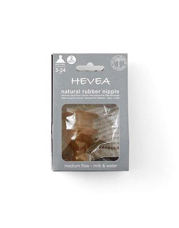 Smoczek kauczukowy antykolkowy do butelki, 2 pak, średni przepływ, HEVEA
