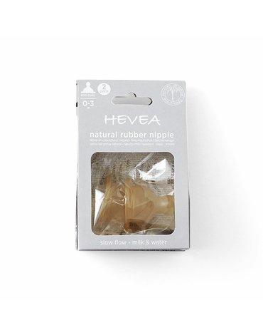 Smoczek kauczukowy antykolkowy do butelki, 2 pak, wolny przepływ, HEVEA