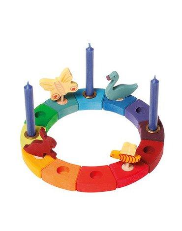 Grimm's - Drewniany Pierścień Urodzinowy, tęczowy, Grimm's
