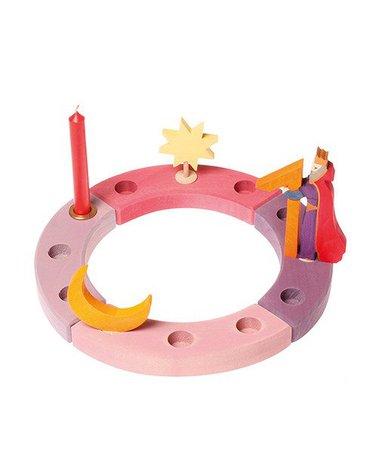 Grimm's - Drewniany Pierścień Urodzinowy, różowo-fioletowy, Grimm's