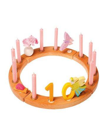 Grimm's - Drewniany Pierścień Urodzinowy, naturalny, Grimm's
