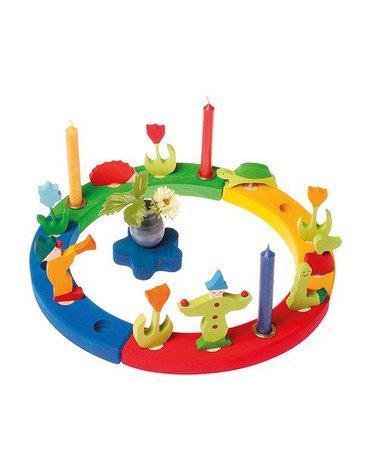 Grimm's - Drewniany Pierścień Urodzinowy, kolorowy, Grimm's