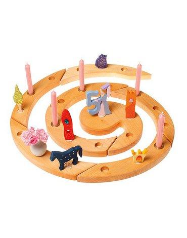 Drewniany Pierścień Urodzinowy, naturalny, Grimm's