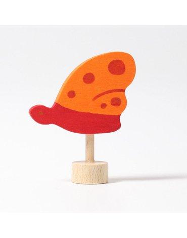 Drewniana figurka, Pomarańczowy Motyl, Grimm's