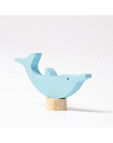 Drewniana figurka, Delfin, Grimm's