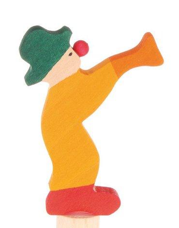 Drewniana figurka, Klaun z Trąbką, Grimm's