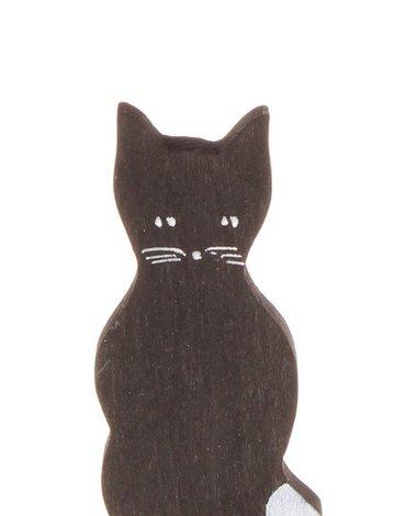 Drewniana figurka, Czarny Kotek, Grimm's