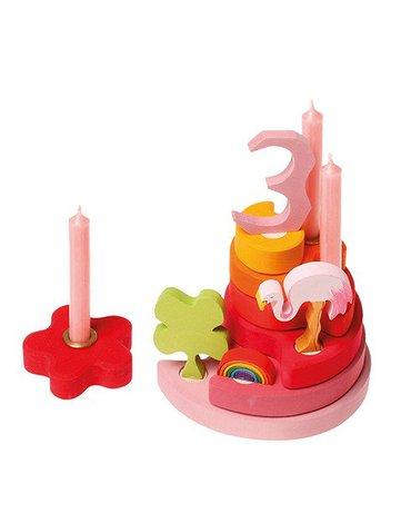 Drewniana figurka, Różowy Flaming, Grimm's