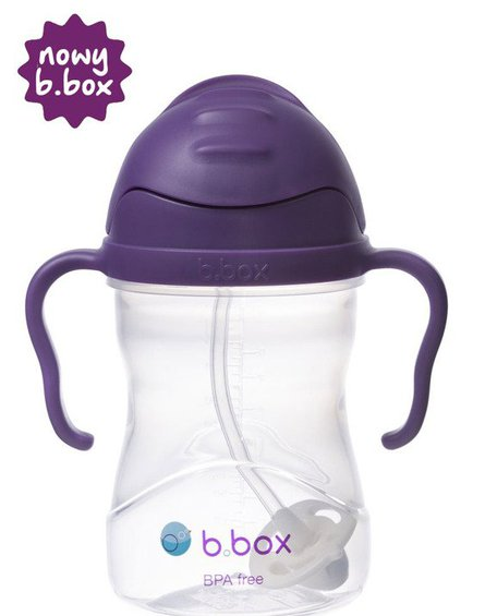 b.box Bidon ze słomką 240 ml, winogronowy,